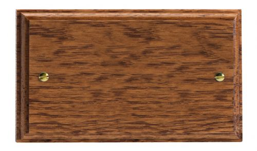 Varilight XKDBMO Kilnwood Medium Oak 2 Gang Double Blank Plate